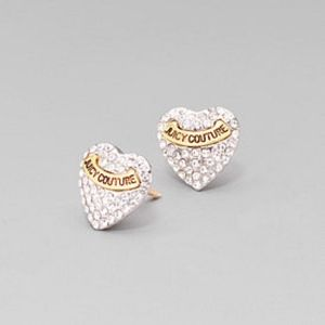 Juicy Couture Crystal Studded Heart Earrings